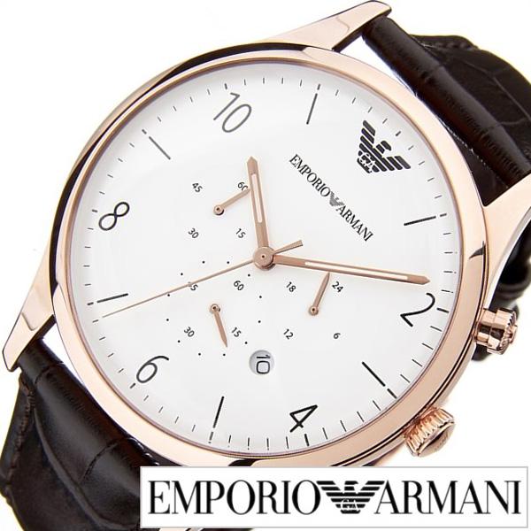 [当日出荷] エンポリオアルマーニ腕時計 EMPORIO ARMANI 腕時計 エンポリオ アルマーニ 時計 ベータ Beta メンズ ホワイト AR1916 [人気 ブランド 高級 EA エンポリ おすすめ オシャレ ギフト プレゼント ダークブラウン ローズゴールド] 誕生日