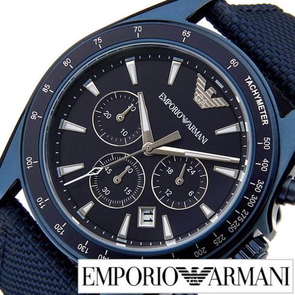 エンポリオアルマーニ腕時計 EMPORIO ARMANI 腕時計 エンポリオ アルマーニ 時計 シグマ Sigma メンズ ブルー AR6132 [人気 トレンド ブランド 高級 EA エンポリ おすすめ オシャレ プレゼント ナイロン ベルト]