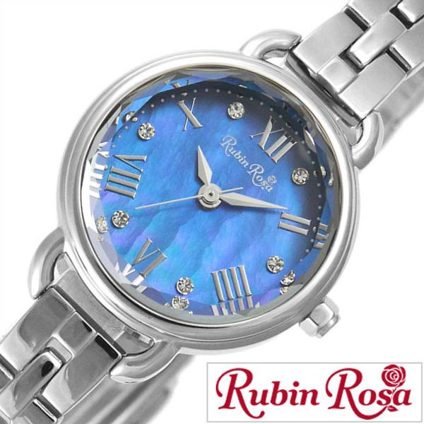 [ポイント10倍]ルビンローザ腕時計 RubinRosa時計 Rubin Rosa 腕時計 ルビン ローザ 時計 R019 レディース ブルー R019SOLSBL [ 正規品 新作 人気 流行 ブランド 防水 かわいい ステンレススティール ソーラー スワロフスキー ブルー][おしゃれ 腕時計]PT10