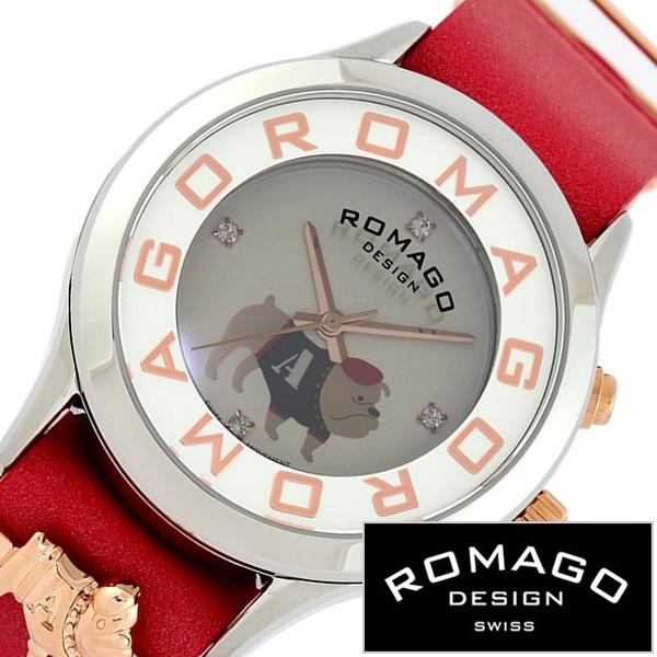 【SALE】(8400円引き) 割引 セール 安い ロマゴデザイン腕時計 ROMAGO時計 ROMAGO DESIGN 腕時計 ロマゴ デザイン 時計 アトラクション チチニューヨーク コラボモデル Che Che York レディース グレー RM067-0512ST-RD[ ブランド 革ベルト レザー スワロフレッド ギフト]