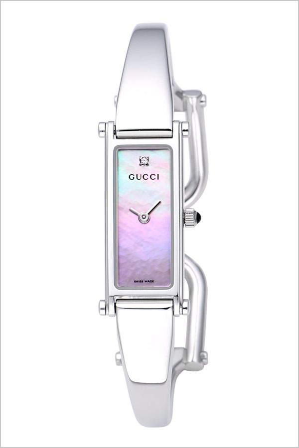 グッチ 腕時計 GUCCI 時計 1500シリーズ レディース ピンク YA015554 [新作 人気 ブランド 防水 高級 おすすめ ファッション プレゼント ギフト メタル シルバー シェル][おしゃれ 腕時計]