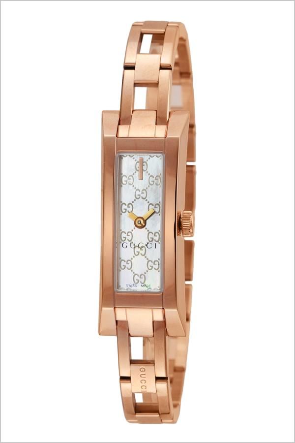 グッチ 腕時計 GUCCI 時計 Gリンク シリーズ G-LINK レディース ホワイト YA110522 [新作 人気 ブランド 防水 高級 おすすめ ファッション プレゼント ギフト メタル ローズゴールド シェル][おしゃれ 腕時計]