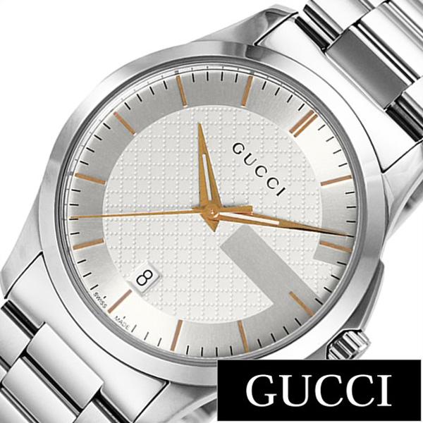 グッチ腕時計 GUCCI時計 GUCCI 腕時計 グッチ 時計 Gタイムレス G Timeless メンズ レディース シルバー YA126442 [新作 人気 ブランド 防水 高級 おすすめ ファッション プレゼント ギフト メタル シルバー][おしゃれ 腕時計]