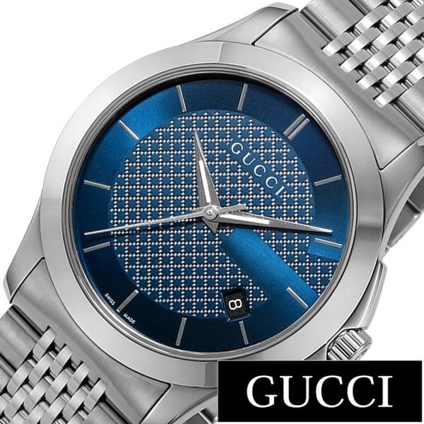 [当日出荷] グッチ腕時計 GUCCI時計 GUCCI 腕時計 グッチ 時計 Gタイムレス G Timeless メンズ ブルー YA126481 [ペアウォッチ 人気 ブランド 防水 高級 おすすめ リクルート 就活 名入れ メタル シルバー おしゃれ ] 誕生日