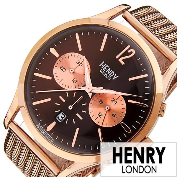 【SALE】(11491円引き) 割引 セール 安い ヘンリーロンドン腕時計 HENRYLONDON時計 ヘンリー ロンドン 時計 HENRY LONDON 腕時計 ハーロウ HARROW メンズ HL41-CM-0056 [ ペアウォッチ ブランド イギリス メッシュ ピンク日付カレンダー クロノグラフ プレゼント ] 誕生日