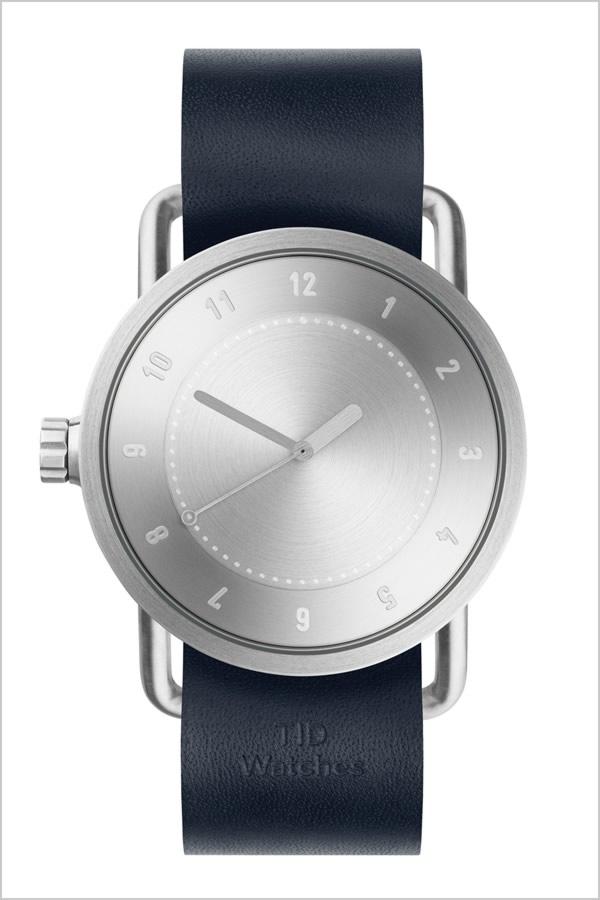 ティッドウォッチ腕時計 TIDWatches時計 TID Watches 腕時計 ティッド ウォッチ 時計 メンズ シルバー SET-TID01-SV40-NV [新作 人気 流行 ブランド 革 レザーベルト 北欧 シンプル ネイビー][社会人]PT10