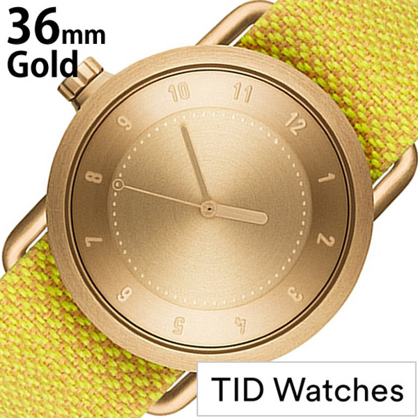 ティッドウォッチ腕時計 TIDWatches時計 TID Watches 腕時計 ティッド ウォッチ 時計 レディース ゴールド TID01-GD36-DAWN [正規品 人気 流行 ブランド 革 レザーベルト 北欧 シンプル イエロー 革 レザー バンド 社会人] 誕生日