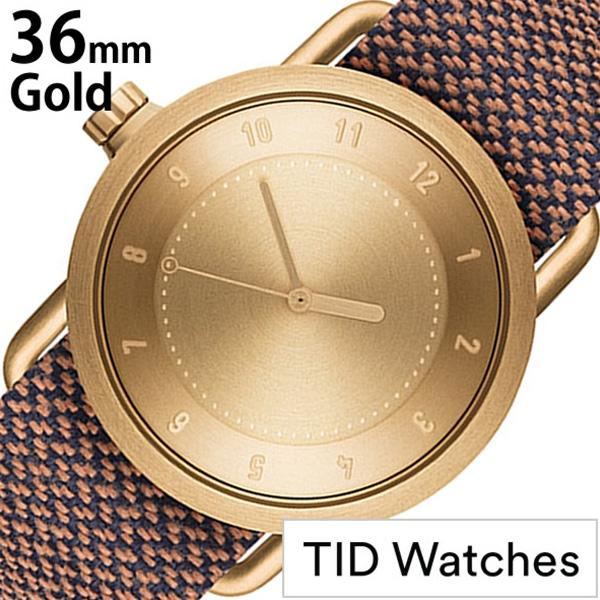 ティッドウォッチ腕時計 TIDWatches時計 TID Watches 腕時計 ティッド ウォッチ 時計 レディース ゴールド TID01-GD36-RUST [正規品 人気 流行 ブランド 革 レザーベルト 北欧 シンプル ブラウン 革 レザー バンド][社会人]