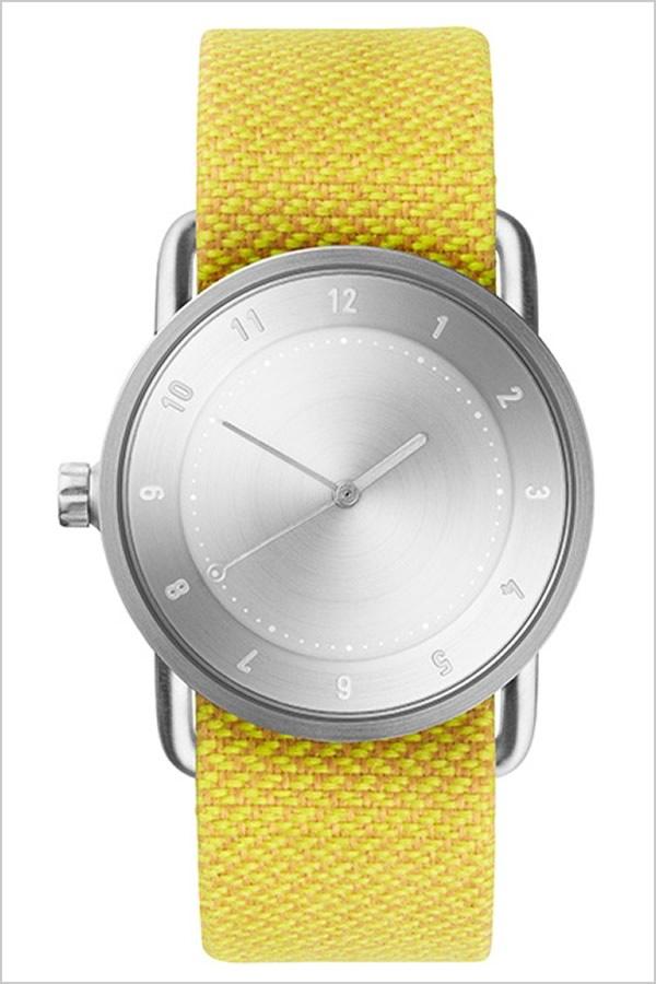ティッドウォッチ腕時計 TIDWatches時計 TID Watches 腕時計 ティッド ウォッチ 時計 レディース シルバー TID02-SV36-DAWN [正規品 人気 流行 ブランド 革 レザーベルト 北欧 シンプル イエロー 革 レザー バンド][社会人]