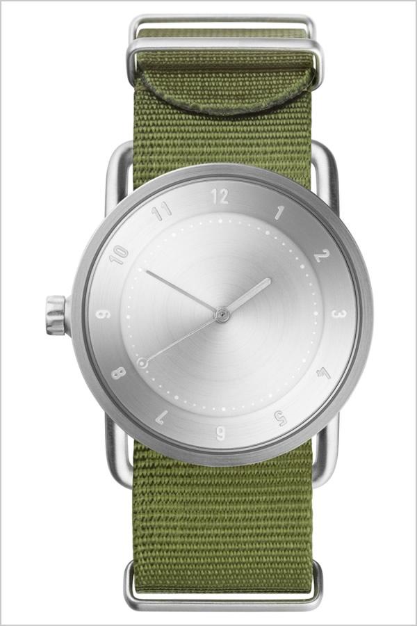 ティッドウォッチ腕時計 TIDWatches時計 TID Watches 腕時計 ティッド ウォッチ 時計 レディース シルバー TID02-SV36-NGR [正規品 人気 流行 ブランド 革 レザーベルト 北欧 シンプル グリーン ナイロン][社会人]