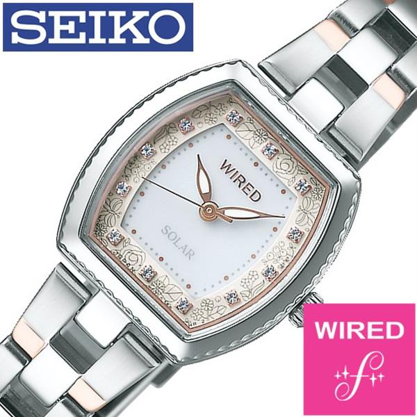 セイコー腕時計 SEIKO時計 SEIKO 腕時計 セイコー 時計 ワイアード エフ WIRED f レディース ホワイト AGED716 [新作 人気 正規品 ブランド 防水 ワイヤード ソーラー メタル 限定 ローズゴールド][おしゃれ 腕時計]