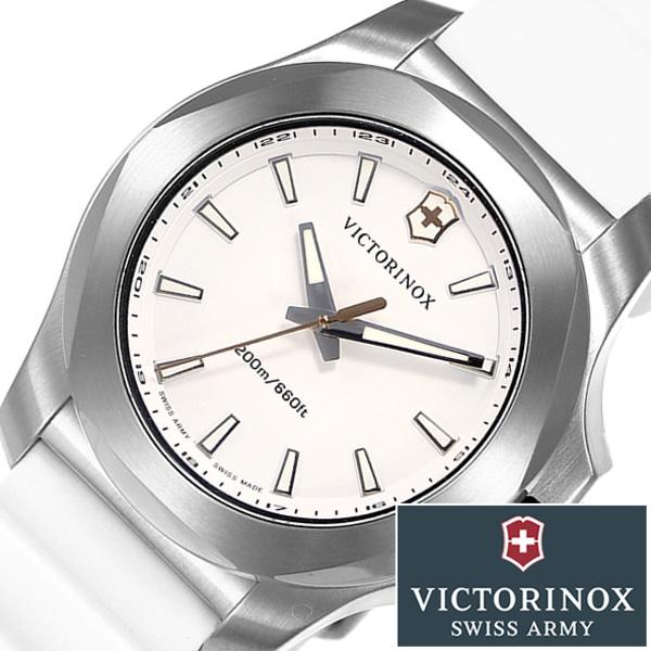 ビクトリノックス スイスアーミー腕時計 VICTORINOX SWISSARMY時計 VICTORINOX SWISSARMY 腕時計 ビクトリノックス スイスアーミー 時計 イノックス ブイ INOX V レディース ホワイト VIC-241769 [新作 正規品 ブランド 防水 バンパー ラバー 241769]