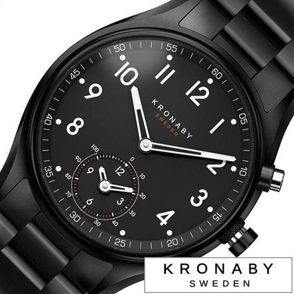 クロナビー腕時計 KRONABY時計 KRONABY 腕時計 クロナビー 時計 アペックス APEX メンズ ブラック A1000-1909 [ 正規品 北欧 スマホ ウォーキング ミニマル 運動 ステンレス スマートウォッチ ラウンド アプリ カレンダー GPS][ おしゃれ ブランド ]