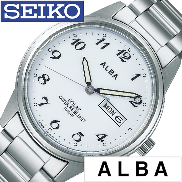 セイコー腕時計 SEIKO時計 SEIKO 腕時計 セイコー 時計 アルバ ソーラー ALBA メンズ ホワイト AEFD561 [ 正規品 ビジネス スーツ オフィスカジュアル シンプル ラウンド メタル ソーラー プレゼント ギフト]