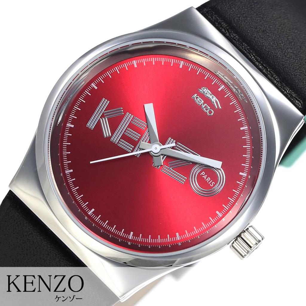 [あす楽]ケンゾー腕時計 KENZO時計 KENZO 腕時計 ケンゾー 時計 Dix-Huit レッド 9600304 [人気 虎 トラ レザー ベルト 革 ブラック シンプル プレゼント ギフト おしゃれ 腕時計] 誕生日