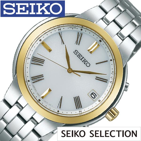 [当日出荷] SEIKO 腕時計 セイコー 時計 セイコーセレクション SEIKO SELECTION メンズ ホワイト SBTM266 [ 正規品 スーツ オフィスカジュアル シンプル ラウンド ゴールド メタル (電池交換不要) ソーラー 電波時計 プレゼント ギフト] 誕生日