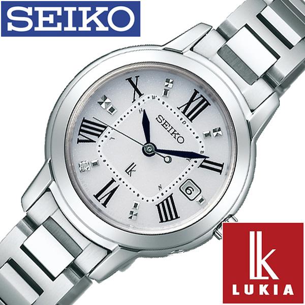 SEIKO 腕時計 セイコー 時計 ルキア LUKIA レディース ホワイト SSQW035 [ 正規品 ビジネス スーツ オフィスカジュアル シンプル ラウンド チタン ソーラー 電波時計 プレゼント ギフト]