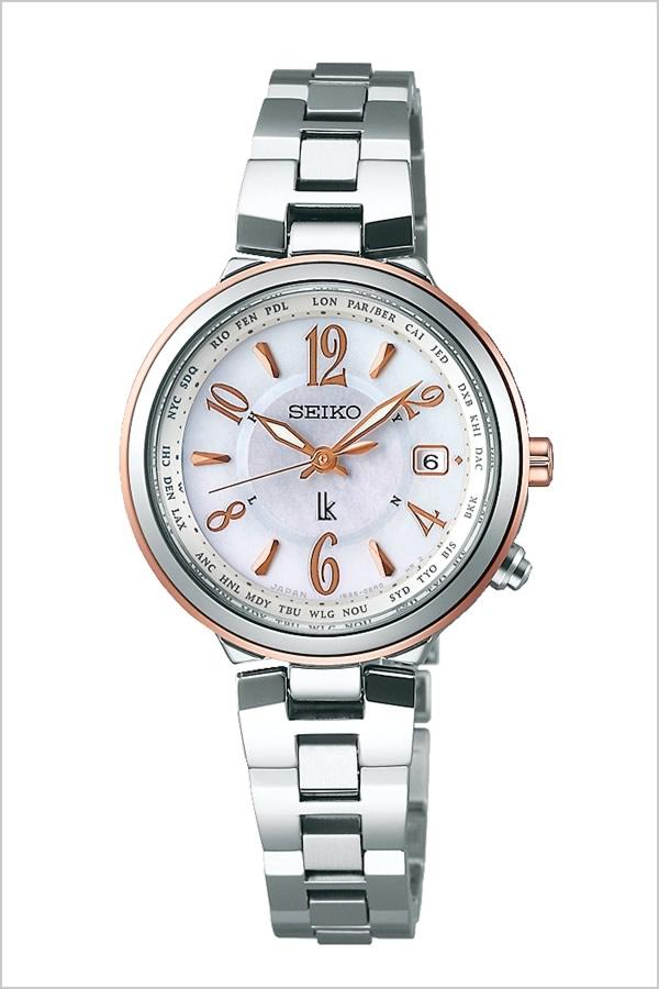ルキア 腕時計 LUKIA 時計 SEIKO 腕時計 セイコー 時計 レディース ホワイト SSVV034 [人気 ブランド プレゼント ギフト 防水 ソーラー 電波 時計 メタル かわいい]