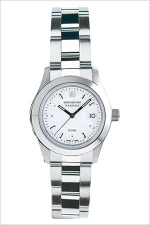 スイスミリタリー腕時計 SWISSMILITARY時計 SWISS MILITARY HANOWA 腕時計 スイス ミリタリー ハノワ 時計 エレガント ELEGANT レディース ホワイト ML-102 [ 正規品 人気 スイス 防水 プレゼント ギフト メタル シルバー カレンダー]