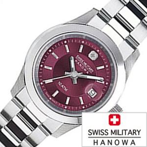 スイスミリタリー腕時計 SWISSMILITARY時計 SWISS MILITARY HANOWA 腕時計 スイス ミリタリー ハノワ 時計 エレガント プレミアム ELEGANT PREMIUM レディース ボルドー ML-310 [ 正規品 人気 スイス 防水 プレゼント ギフト メタル シルバー カレンダー]