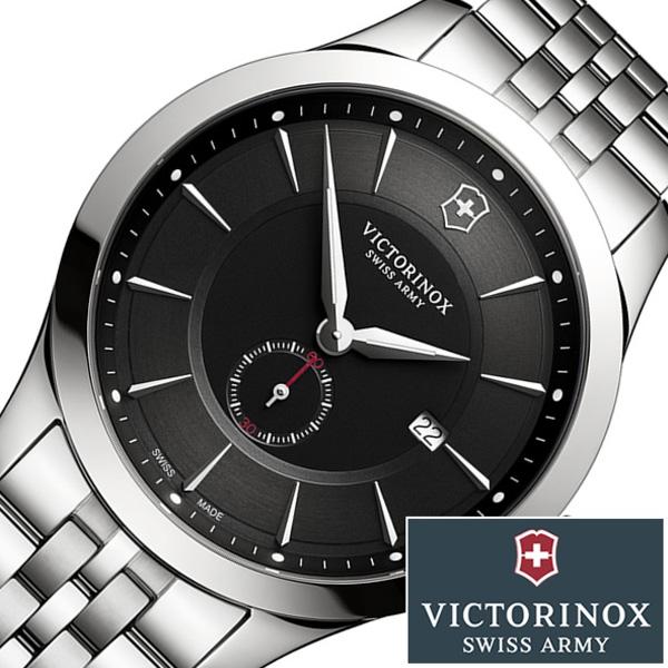 ヴィクトリノックス腕時計 VICTORINOX 時計 ビクトリノックス 腕時計 ヴィクトリノックス スイスアーミー 時計 アライアンス ALLIANCE メンズ ブラック 241762 [人気 ブランド メタル 防水 シルバー 高級 プレゼント ギフト]