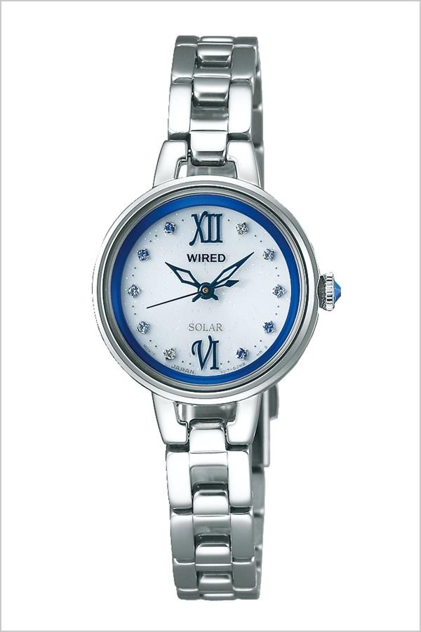 セイコー腕時計 SEIKO時計 SEIKO 腕時計 セイコー 時計 ワイアード エフ WIRED f レディース ホワイト AGED092 [ 正規品 人気 ブランド プレゼント ギフト ビジネス メタル ソーラー かわいい シルバー ブルー]