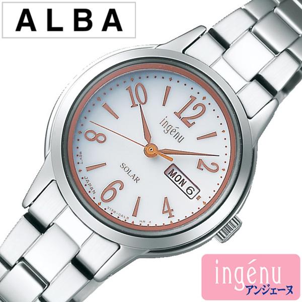 セイコー 腕時計 レディース ソーラー SEIKO 腕時計 セイコー 時計 アルバ アンジェーヌ ALBA ingenu ホワイト AHJD102 [ 正規品 人気 ブランド プレゼント ギフト ビジネス メタル かわいい ]