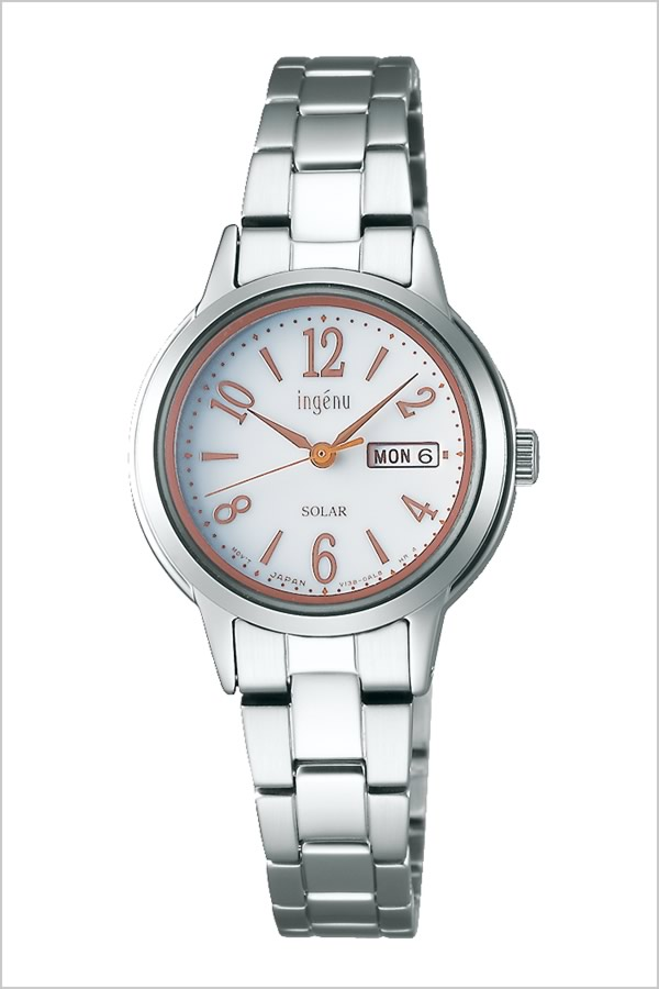 セイコー腕時計 SEIKO時計 SEIKO 腕時計 セイコー 時計 アルバ アンジェーヌ ALBA ingenu レディース ホワイト AHJD102 [ 正規品 人気 ブランド プレゼント ギフト ビジネス メタル かわいい ソーラー]