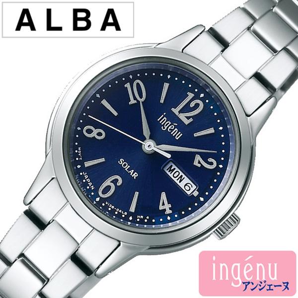 セイコー 腕時計 レディース (電池交換不要) ソーラー SEIKO時計 SEIKO 腕時計 セイコー時計 アルバ アンジェーヌ ALBA ingenu ネイビー AHJD104 [ 正規品 人気 ブランド プレゼント ギフト ビジネス メタル かわいい] 誕生日