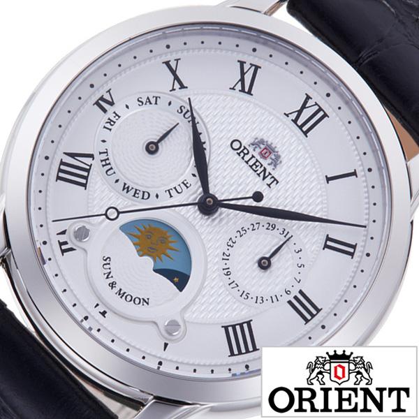 オリエント腕時計 ORIENT時計 ORIENT 腕時計 オリエント 時計 クラシック サンアンドムーン CLASSIC SUN & MOON レディース ホワイト RN-KA0003S [ 正規品 日本製 クォーツ 信頼 ブランド ウォッチ ビジネス モダン オフィス カレンダー プレゼント ギフト]