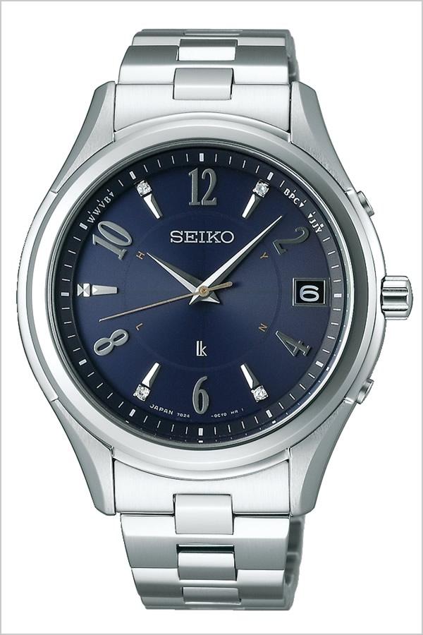 セイコー ルキア 腕時計 ソーラー 電波 セイコー腕時計 SEIKO時計 SEIKO 腕時計 セイコー 時計 ルキア LUKIA メンズ ネイビー SSVH019 [ 正規品 人気 ブランド プレゼント ギフト ビジネス メタル シルバー ペアウォッチ シンプル ダイヤ][おしゃれ 腕時計]