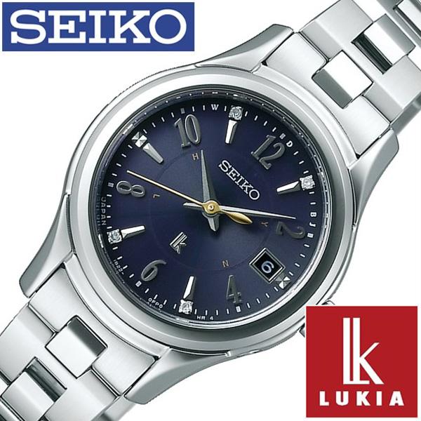 セイコー腕時計 SEIKO時計 SEIKO 腕時計 セイコー 時計 ルキア LUKIA レディース ネイビー SSVW109 [ 正規品 人気 ブランド プレゼント ギフト ビジネス メタル シルバー ソーラー 電波 ペアウォッチ シンプル ダイヤ][おしゃれ 防水 ]
