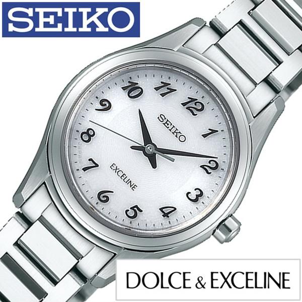 セイコー腕時計 SEIKO時計 SEIKO 腕時計 セイコー 時計 ドルチェ&エクセリーヌ DOLCE&EXCELINE レディース ホワイト SWCQ093 [ 正規品 人気 ブランド プレゼント ギフト ビジネス ペアウォッチ メタル シルバー シンプル ソーラー][おしゃれ 防水 ]