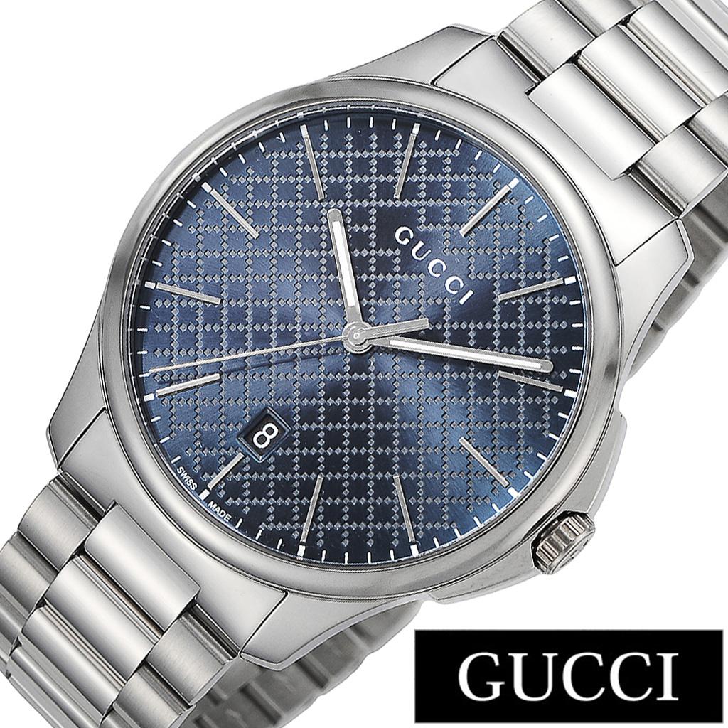 グッチ腕時計 GUCCI時計 GUCCI 腕時計 グッチ 時計 Gタイムレス G-TIMELESS メンズ ブルー YA126316 [新作 人気 ブランド 防水 高級 おすすめ ファッション プレゼント ギフト メタル][おしゃれ 腕時計]