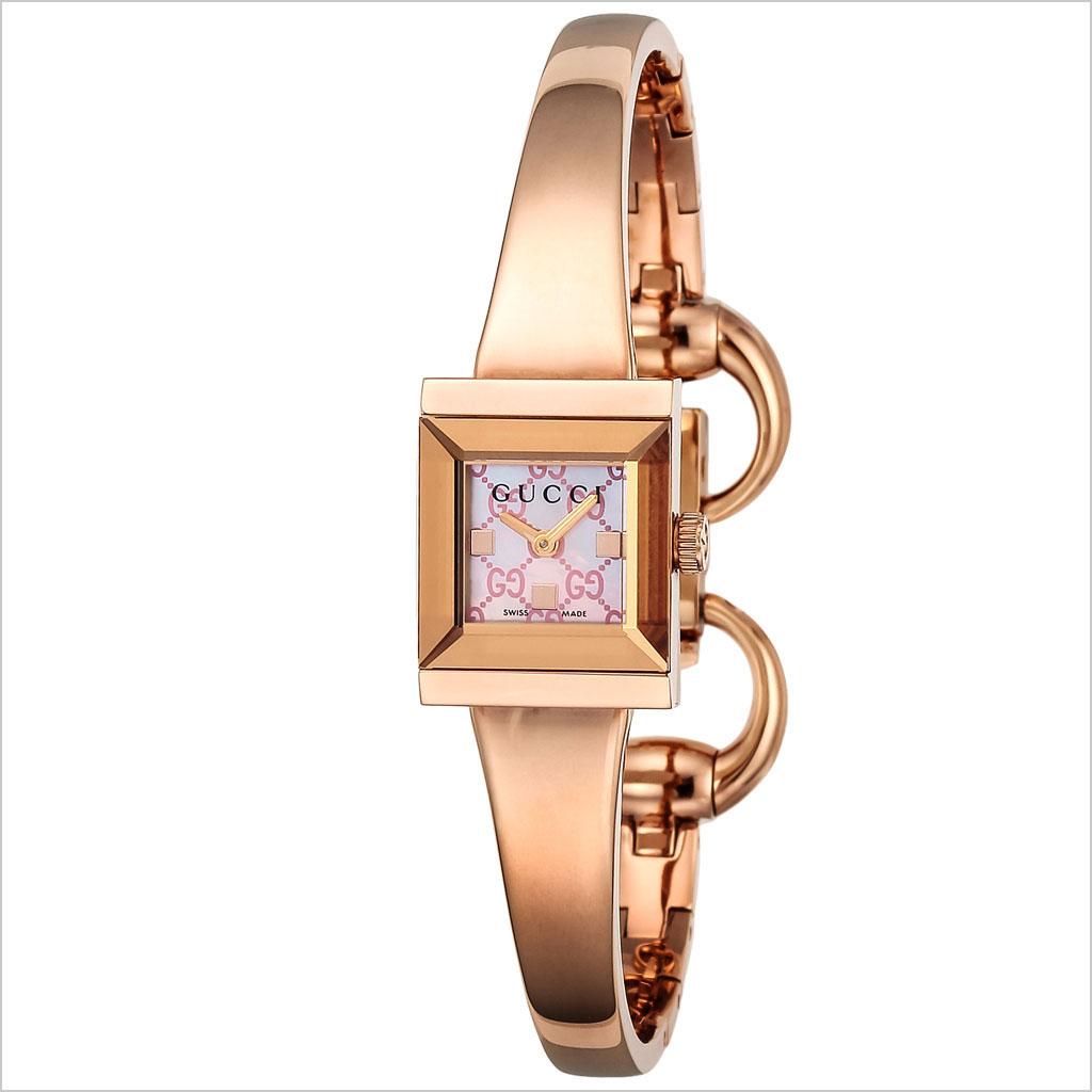 グッチ腕時計 GUCCI時計 GUCCI 腕時計 グッチ 時計 Gフレーム G-FRAME レディース ピンク YA128518 [新作 人気 ブランド 防水 高級 おすすめ ファッション プレゼント ギフト メタル ローズゴールド]