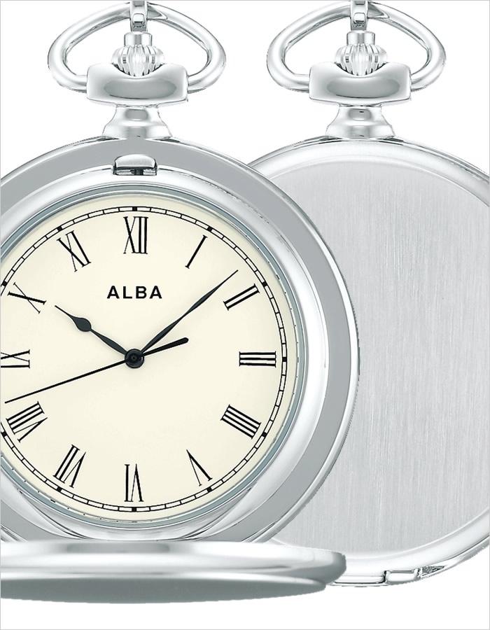 セイコー懐中時計 SEIKO時計 SEIKO 懐中時計 セイコー 時計 アルバ ポケット ウオッチ ALBA Pocket Watch メンズ レディース AQGK448 [ 正規品 懐中時計 レトロ アンティーク おしゃれ ファッション ラウンド ステンレス シルバー プレゼント ]
