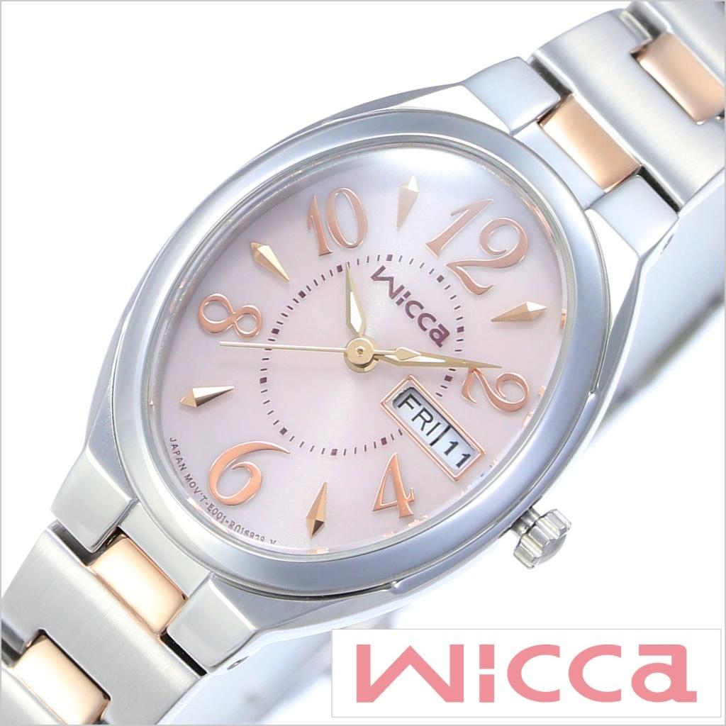 [あす楽]シチズン腕時計 CITIZEN時計 CITIZEN 腕時計 シチズン 時計 ウィッカ ソーラーテック Wicca GIRLISH レディース ピンク ピンクゴールド KH3-118-93 [おしゃれ かわいい スウィート ガーリー ソーラー 送料無料]