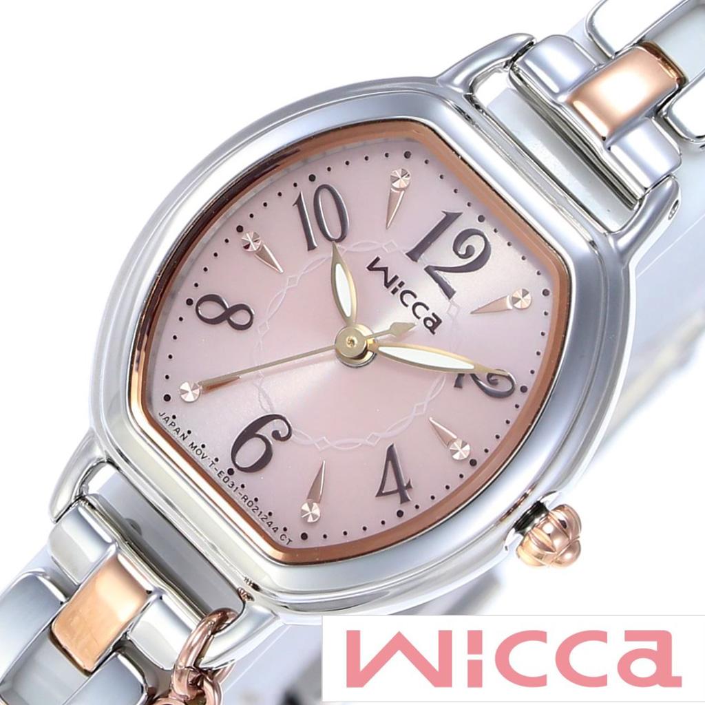 [あす楽]シチズンウィッカ腕時計 CITIZENwicca時計 CITIZEN wicca 腕時計 シチズン ウィッカ 時計 レディース ピンク KP2-531-91 [ 正規品 防水 人気 ブランド ソーラー かわいい メタル ピンクゴールド シルバー トノー ] 誕生日 冬