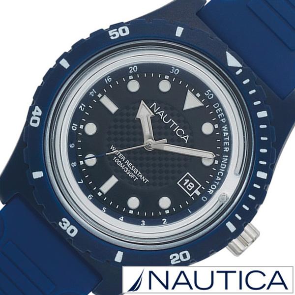 ノーティカ腕時計 NAUTICA時計 NAUTICA 腕時計 ノーティカ 時計 イビサ IBIZA メンズ ブラック NAPIBZ005 [ 正規品 人気 ブランド 防水 プレゼント ギフト ラバー シリコン アウトドア カレンダー ブルー ネイビー]