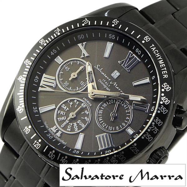 【SALE】(62%OFF) 半額 割引 セール 安い サルバトーレマーラ腕時計 Salvatore Marra 腕時計 サルバトーレ マーラ 時計 メンズ ブラック SM15116-BKBKSV[ ブランド 防水 メタル (電池交換不要) ソーラー 電波 電波 ソーラー クロノグラフ カレンダー オールブラック]