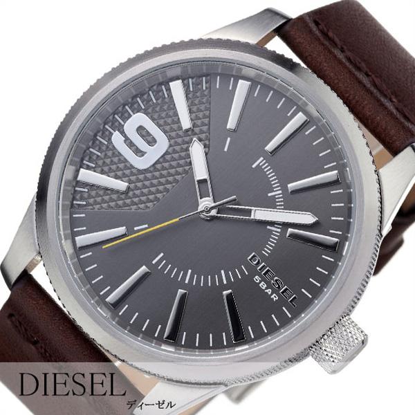 ディーゼル腕時計 ラスプ DIESEL時計 RASP DIESEL 腕時計 ディーゼル 時計 メンズ グレー DZ1802[アナログ 革 ベルト ブラック シルバー ご褒美 おしゃれ ファッション ブランド ギフト プレゼント][送料無料]