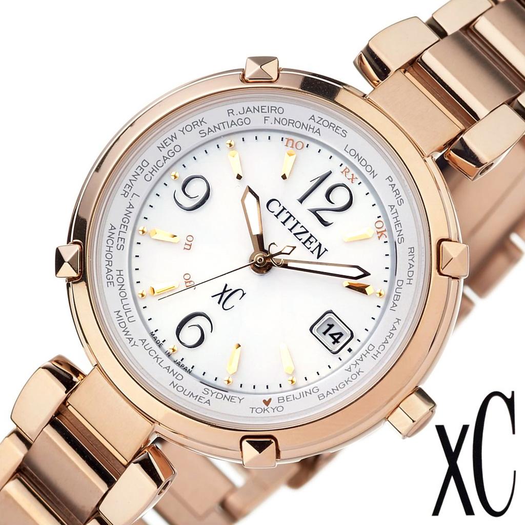 [SALE](13600円引き 割引き セール 安い )シチズン腕時計 CITIZEN 腕時計 シチズン 時計 クロスシー ティタニア ライン ハッピーフライト xC TITANIA LINE HAPPY FLIGHT レディース ゴールド ホワイト EC1042-51A [ エコドライブ ソーラー電波 おしゃれ 防水 ]