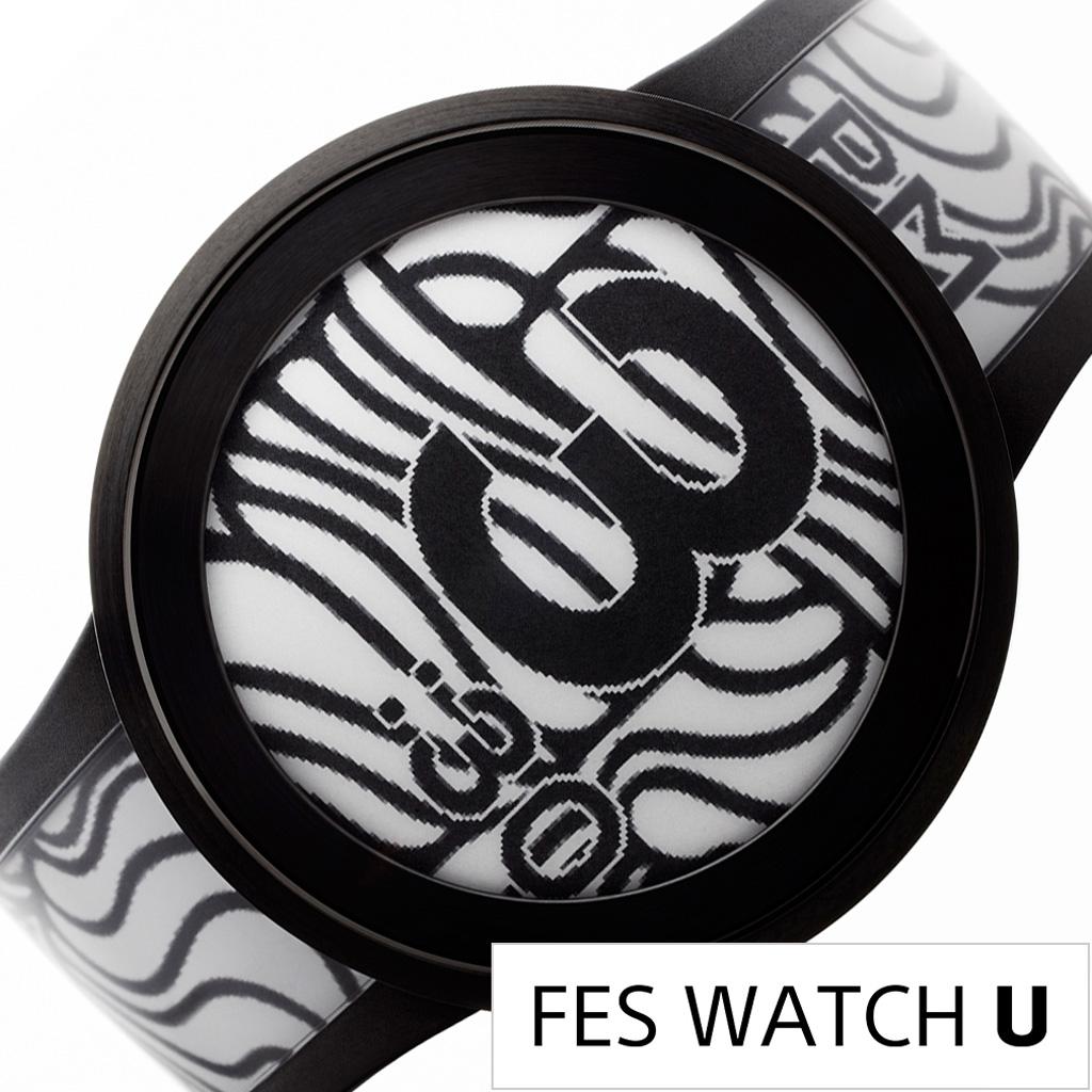 SONY 腕時計 ソニー 時計 フェス ウォッチ プレミアム ブラック FES WATCH U Premium Black モノクロ FES-WA1 B[ 正規品 電子ペーパー スマートユニーク デザイン スマートフォン iphone 連動 カスタム 充電式 プレゼント ギフト][おしゃれ 腕時計]