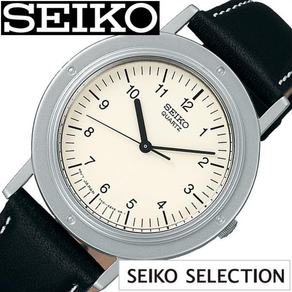 セイコー セレクション ナノユニバース コラボモデル SELECTION nano universe Limited Edition セイコー 腕時計 メンズ レディース 白 SCXP117[ 正規品 ペア コラボ おしゃれ ファッション シャリオ シンプル 革 レザー 白 ブランド プレゼント ギフト]