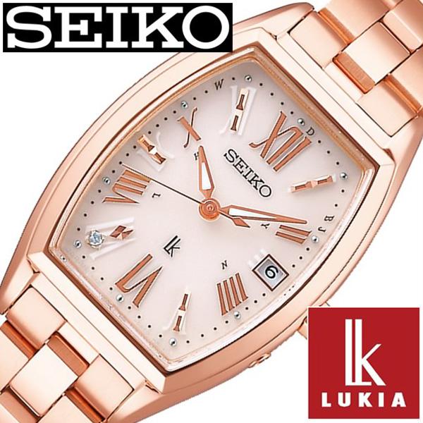 セイコー ルキア 腕時計 レディース ソーラー 電波 SEIKO LUKIA セイコー時計 SEIKO腕時計 ベージュ SSVW118[ 正規品 上品 シンプル かわいい おしゃれ ファッション カレンダー トノー型 ピンク ローズゴールド ステンレス プレゼント ギフト][送料無料]