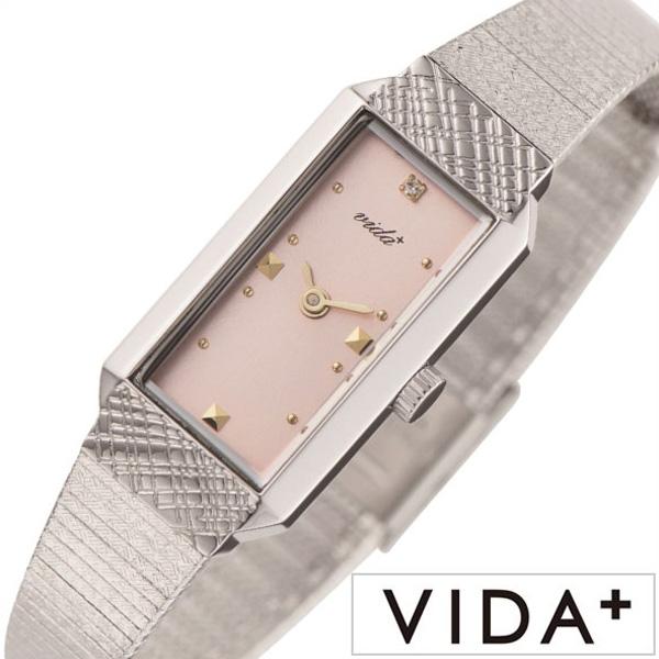 [当日出荷] ヴィーダプラス時計 VIDA+腕時計 VIDA+ 腕時計 ヴィーダ プラス 時計 レディース 女性 向け 母 ピンク J83902-SV-PK[ 正規品 ビーダ ブランド クラシカル 小さめ スクエア型 四角 おしゃれ 細ベルト おしゃれ シンプル ] 誕生日 PT10