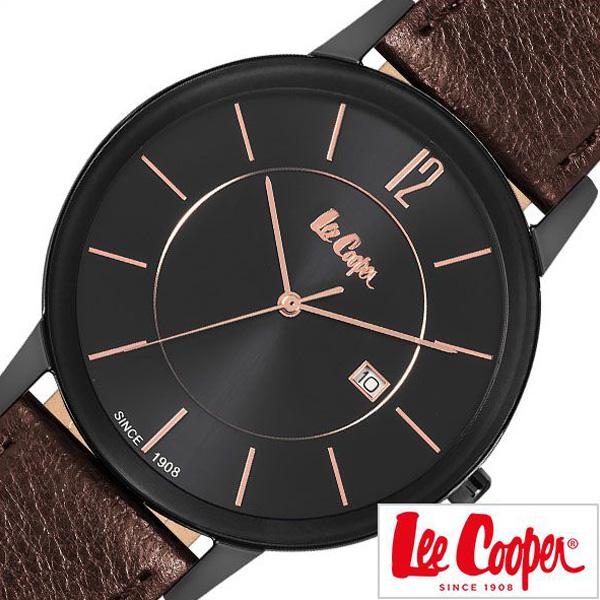 リークーパー腕時計 LeeCooper時計 Lee Cooper 腕時計 リークーパー 時計 メンズ ブラック LC6326-652 [ 正規品 定番 人気 ロンドン ファッション ブランド デニム ヴィンテージ ドーム ブラウン 革 レザー プレゼント ギフト ][送料無料]