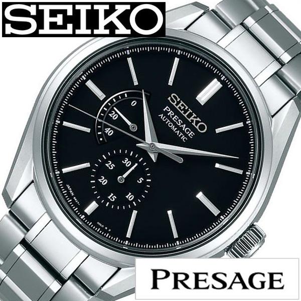 SEIKO PRESAGE セイコー プレザージュ腕時計 時計 メンズ ブラック SARW043 [ 正規品 定番 人気 ビジネス オフィスカジュアル ラウンド シンプル ステンレス メカニカル シルバー プレゼント ギフト][送料無料]