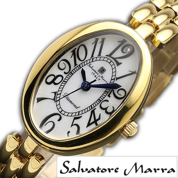 サルバトーレマーラ腕時計 SalvatoreMarra時計 Salvatore Marra 腕時計 サルバトーレ マーラ 時計 レディース SM17152-GDWH [ 正規品 ブランド 20代 30代 ビジネス ブレスレット ダイヤ オパール ステンレス ゴールド プレゼント ギフト ][ おしゃれ 腕時計 ][送料無料]
