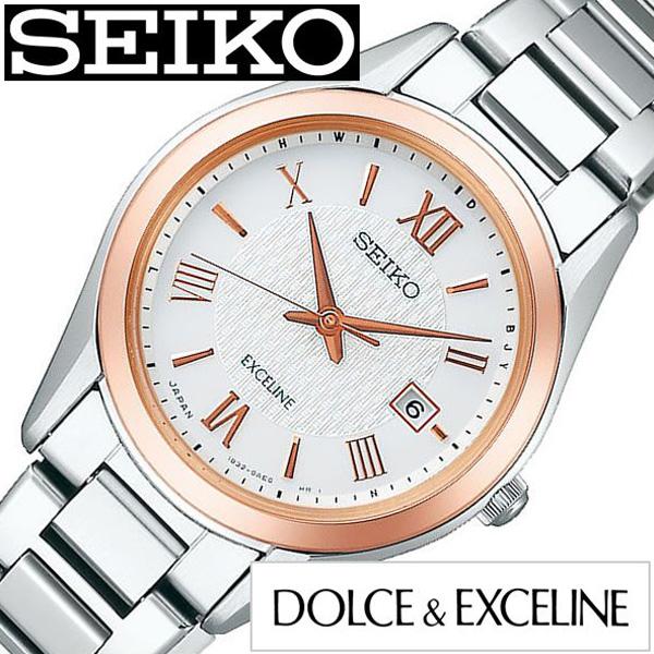 SEIKO DOLCE&EXCELINE セイコー ドルチェ&エクセリーヌ腕時計 時計 レディース ホワイト SWCW150 [ 正規品 人気 ラウンド 薄型 シンプル ステンレス ソーラー 電波時計 ペア カップルコーデ おそろい シルバー プレゼント ギフト][送料無料]